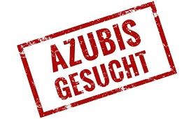 Schild mit Aufschrift: Azubi gesucht