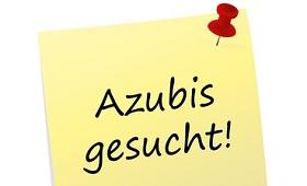 Schild: Azubis gesucht!