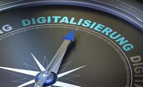 Schriftzug Kompass Digitalisierung