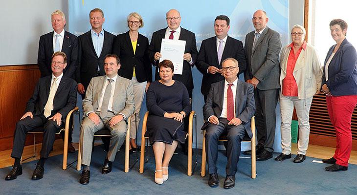 Vertreter der Allianz für Aus- und Weiterbildung im BMWi