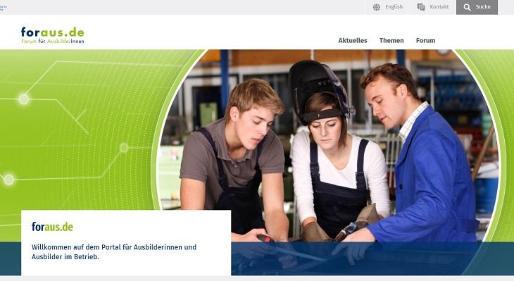 Relaunch des BIBB-Internetportals für Ausbilderinnen und Ausbilder www.foraus.de