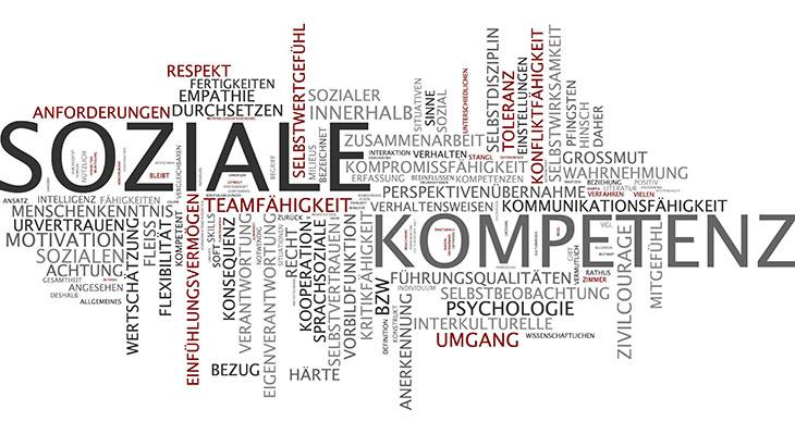 """Wortwolke zum Begriff """"Soziale Kompetenz"""""""