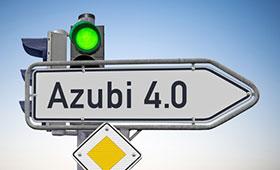 """Schild """"Azubi 4.0"""""""