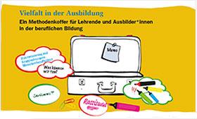 """Cover Methodenkoffer """"Vielfalt in der Ausbildung"""""""